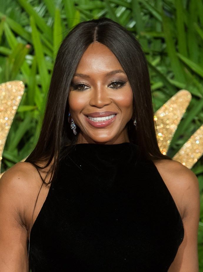 """**4. Naomi Campbell** <br><br> """"Naomi has been at the top for almost 30 years and it is not hard to see why, with those beautifully high cheekbones which really got her noticed early on in her career."""""""