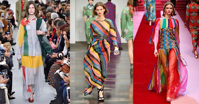 **RAINBOW STYLING** <br><BR> Perfect for: Christmas Day <br><br> *Céline SS18, Philosophy di Lorenzo Serafini SS18, Dolce & Gabbana SS18*