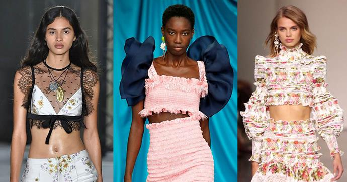 **PARTY CROP** <br><BR> Perfect for: New Years Day <br><br> *Giambattista Valli SS18, Emilio de la Morena SS18, Zimmermann SS18*