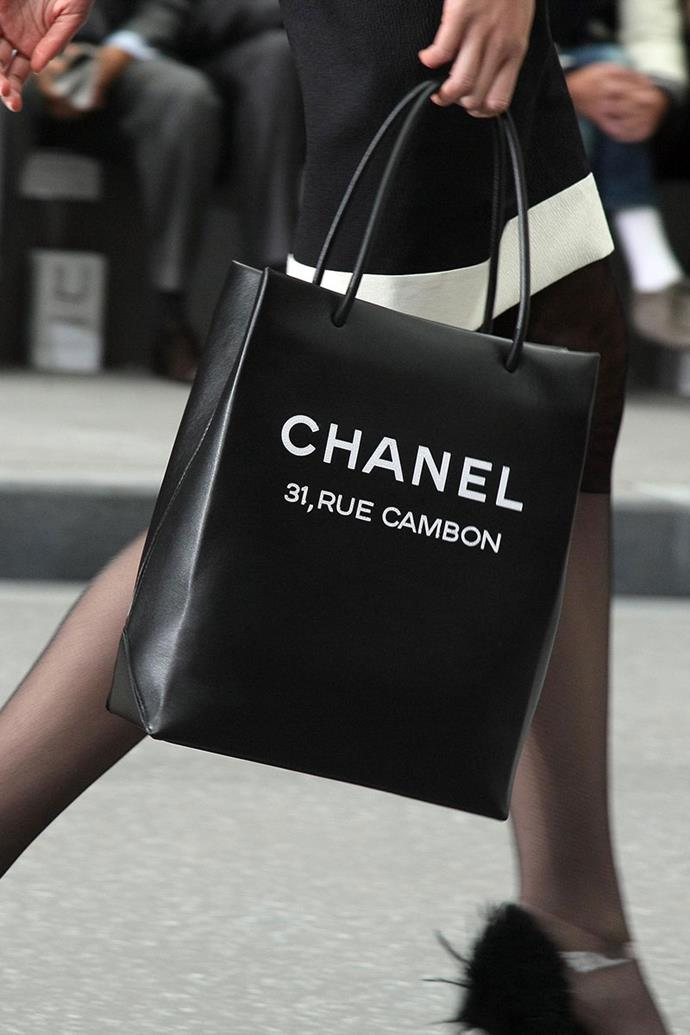 **Chanel spring summer '09** <br><br> Leather Shopping Bag.