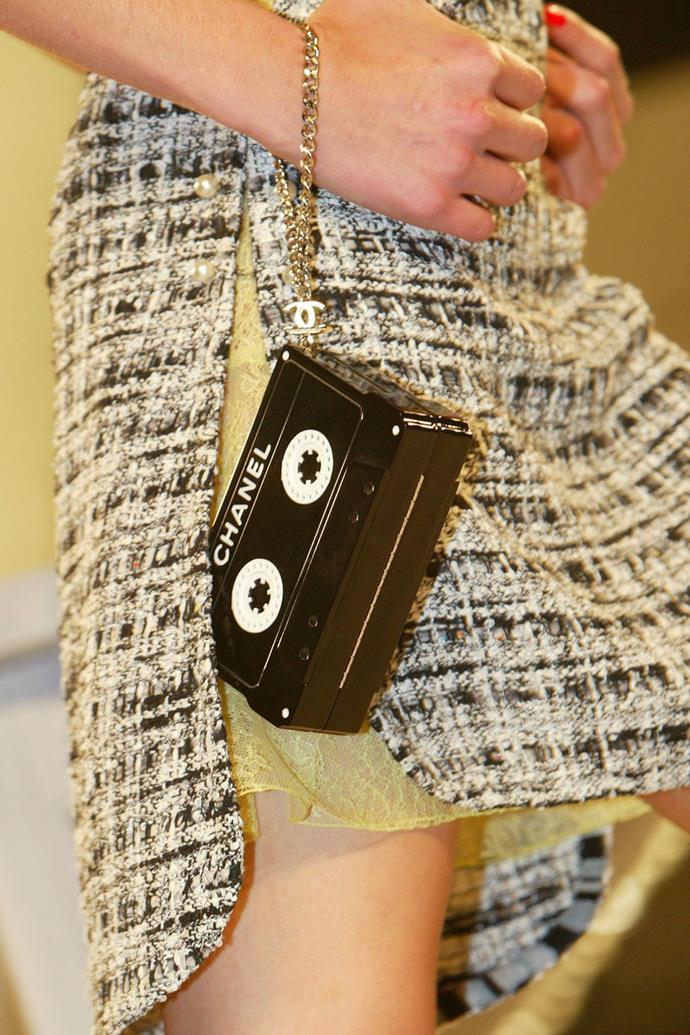 **Chanel spring summer '04** <br><br> Cassette Tape Bag.