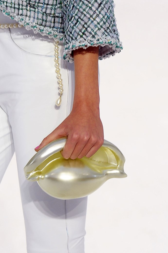 **Chanel spring summer '12** <br><br> Shell Minaudieres Bag.