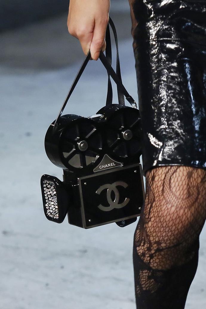 **Chanel pre-autumn winter Metiers d'Art '15/16** <br><br> Film Projector Buonasera Minaudiere Bag.
