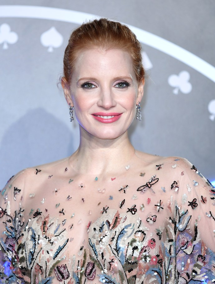 **Jessica Chastain for *Molly's Game*** The talented red head has gone from strength to strength, knocking it out of the park in *Miss Sloane* and *The Zookeeper's Wife*, and now she's back with *Molly's Game*, where she plays an Olympic-class skier who ran the world's most exclusive high-stakes poker game.