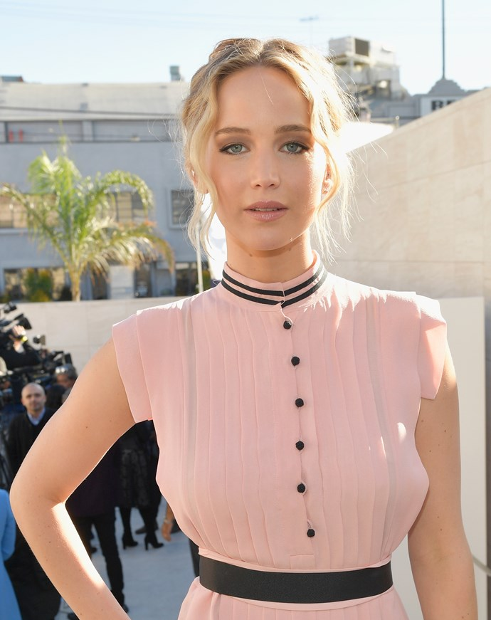**Jennifer Lawrence for *Mother!*** Lawrence starred in one of the most bizarre films of 2017. Directed by her then-boyfriend Darren Aronofsky, *Mother!* is immensely confronting and Jennifer Lawrence's performance is outstanding.
