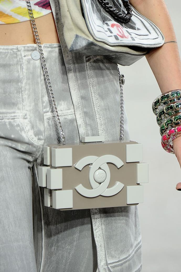 **Chanel spring summer '14** <br><br> Lego Clutch Bag.