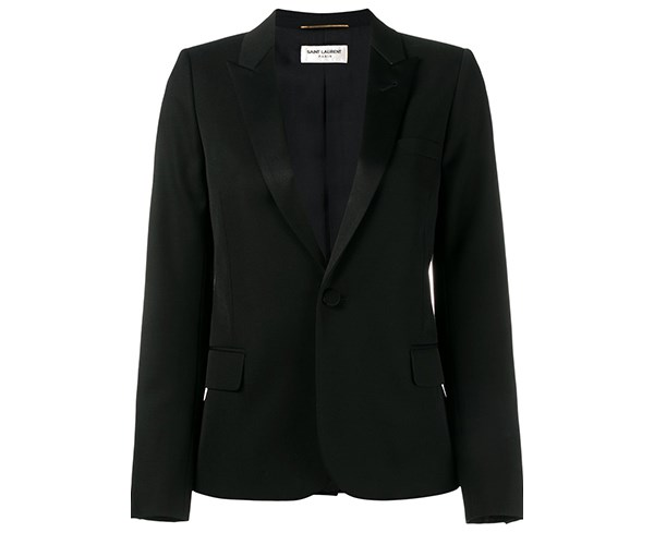 "**Saint Laurent Le Smoking Jacket**  Jacket, $4,210, Saint Laurent at [Farfetch](http://rstyle.me/n/cvmtprvs36|target=""_blank""|rel=""nofollow"")"