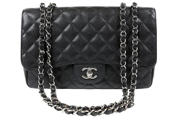 """**Chanel Flap Bag**  Bag, $4,734 at [Vestiaire Collective](https://www.vestiairecollective.com/women-bags/handbags/chanel/black-caviar-leather-timeless-chanel-396916.shtml