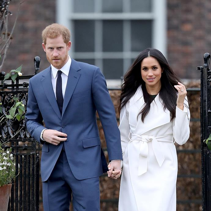 "**LINE THE LABEL** <br><br> **Meghan Markle** marked her [engagement to Prince Harry](https://www.harpersbazaar.com.au/celebrity/prince-harry-meghan-markle-royal-rules-14728|target=""_blank"") by causing fashion anarchy, in typically royal style. The white coat she donned at her engagement announcement, by boutique Canadian brand [**Line the Label**](http://www.linethelabel.com/