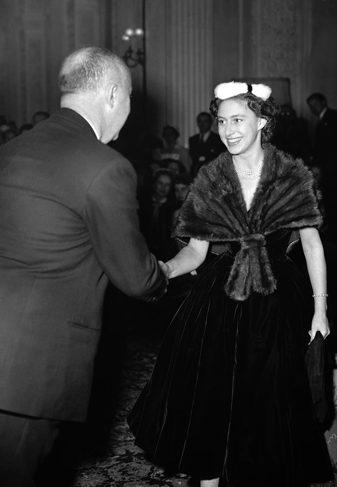 "**CHRISTIAN DIOR** <br><br> Before [**Christian Dior**](https://www.harpersbazaar.com.au/culture/house-of-dior-seventy-years-of-haute-couture-ngv-melbourne-first-look-14141|target=""_blank"") became a world-famous hallmark label in fashion, **Princess Margaret** was one of the designer's biggest fans. According to [*People*](http://people.com/royals/princess-diana-queen-elizabeth-and-princess-margaret-changed-fashion-forever/