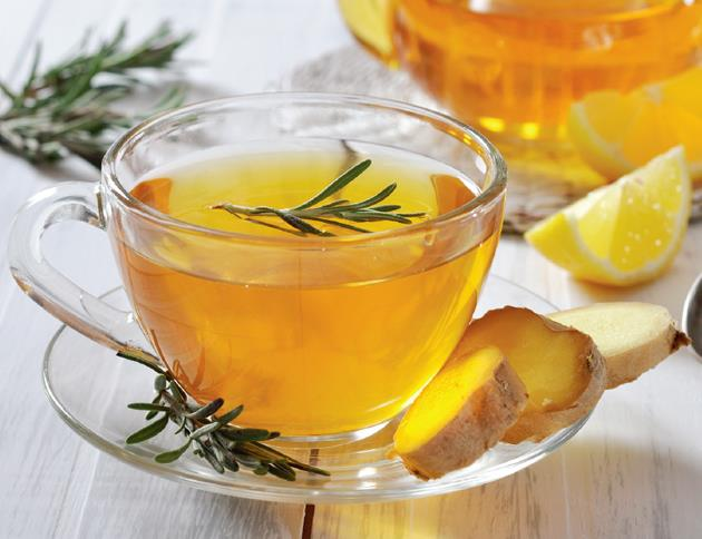 If you have experienced a **loss of firmness** in your skin you should drink **Rosemary Tea**. <br> <br> Rosemary is a natural astringent that is full of anti-inflammatory properties that can help to reduce puffiness and redness of the skin. It is also known to enhance your mood through its stress-reducing aroma.  <br> <br> Here's the recipe you should follow:<br> •	3 lemon slices <br> •	2 rosemary sprigs <br> •	Boiling Water<br> <br> <br> **Directions:** Cut 3 thin slices of lemon and place them in a mug. Add two sprigs of rosemary. Pour boiling water over the leaves and leave to rest for 3-5 minutes. Add honey for a slightly sweeter taste, or a pinch of cayenne pepper (ground) if you want to boost your digestion.