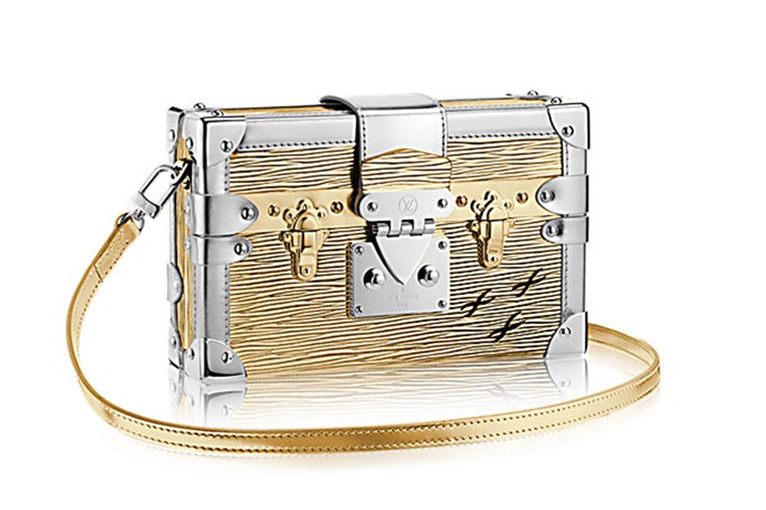 "**Louis Vuitton Petite Malle In Epi Metallic** <br><br> $6,750, available at [Louis Vuitton](http://au.louisvuitton.com/eng-au/products/petite-malle-epi-metallic-nvprod440072v |target=""_blank"")."