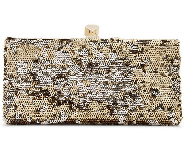 "**Jimmy Choo Celeste Sequined Canvas Clutch** <br><br> $1,295, available at [Net-A-Porter](https://www.net-a-porter.com/au/en/product/996821|target=""_blank"")."