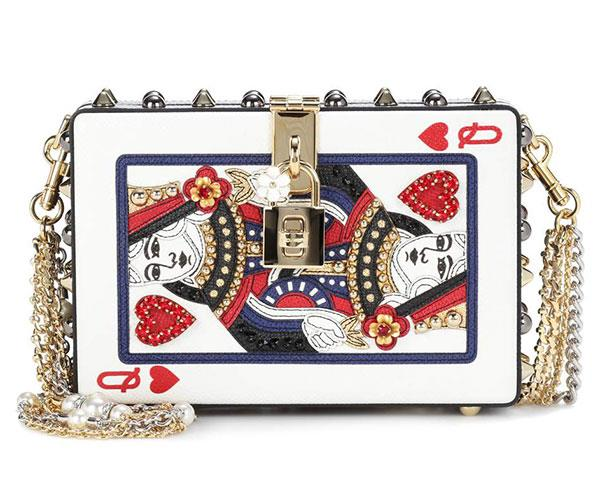 "**Dolce & Gabbana Box Embellished Leather Clutch** <br><br> $5,150, available at [MyTheresa](https://www.mytheresa.com/en-au/dolce-gabbana-dolce-box-embellished-leather-clutch-853388.html?catref=category|target=""_blank"")."