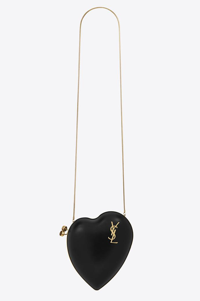 "**Saint Laurent Love Box Bag In Black Leather** <br><br> $2,435, available at [YSL](https://www.ysl.com/au/shop-product/women/handbags-ysl-boxes-love-box-bag-in-black-leather_cod45336023qs.html#dept=women_bags_evening_bags|target=""_blank"")."