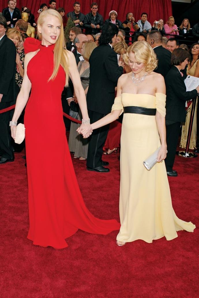 Nicole Kidman and Naomi Watts who went to high school together.