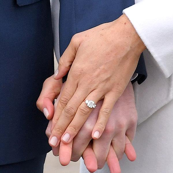 **Meghan Markle** <br><br> Prince Harry and Meghan Markle announced their engagement in late-November. Markle's ring, which was designed by Harry, features a main diamond that was sourced from Botswana (a location which is sentimental to the couple) and two smaller diamonds from Princess Diana's personal jewellery collection.