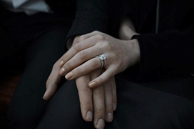 "**Sophie Turner** <br><br> Sophie Turner announced her engagement to singer Joe Jonas on Instagram in mid-October. The actress showed off her pear-shaped, three-carat ring with this picture, captioning it ""I said yes."""