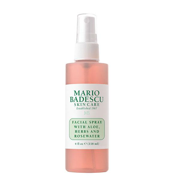 "Mario Badescu Facial Spray with Aloe, Herbs & Rosewater, $9 at [Mecca](https://www.mecca.com.au/mario-badescu/facial-spray-with-aloe-herbs-rosewater/V-004680.html|target=""_blank"")."