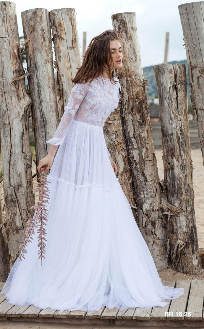 """**CHRISTOS COSTARELLOS** <br><br> Greek native [Christos Costarellos](https://www.modaoperandi.com/costarellos-ss16/tulle-lace-a-line-gown?mid=37385&utm_medium=Linkshare&utm_source=J84DHJLQkR4&utm_content=J84DHJLQkR4&siteID=J84DHJLQkR4-1WsaMwVGTpaAPcJ7DS5_tA