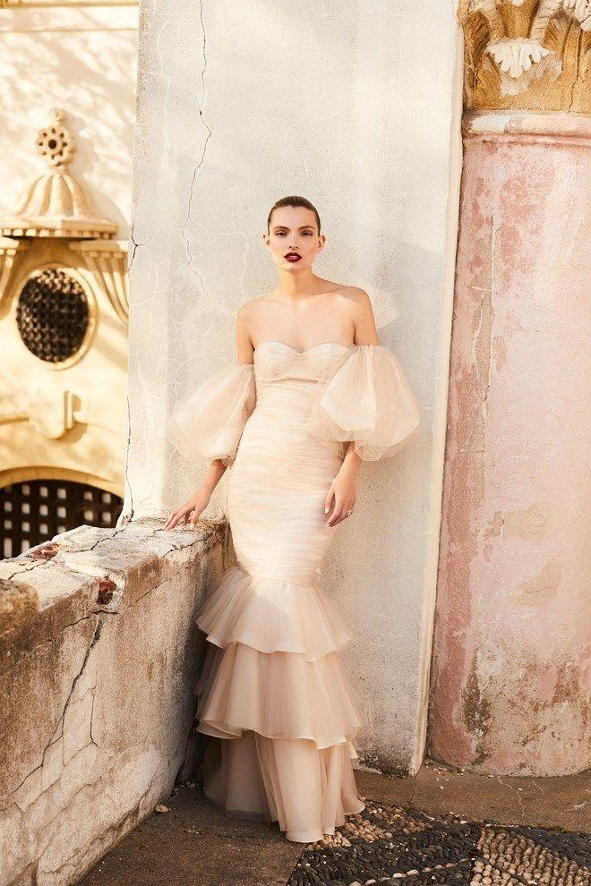 """**JOHANNA ORTIZ** <br><br> It-designer Johanna Ortiz's flamenco skirts, off-shoulder tops, bold ruffles and statement silhouettes are being brought to the aisle courtesy of [Moda Operandi](https://www.modaoperandi.com/johanna-ortiz-bridal-ss18?mid=37385&utm_medium=Linkshare&utm_source=J84DHJLQkR4&utm_content=J84DHJLQkR4&siteID=J84DHJLQkR4-Hv4cBZLNtH1TRhNshyG_VA
