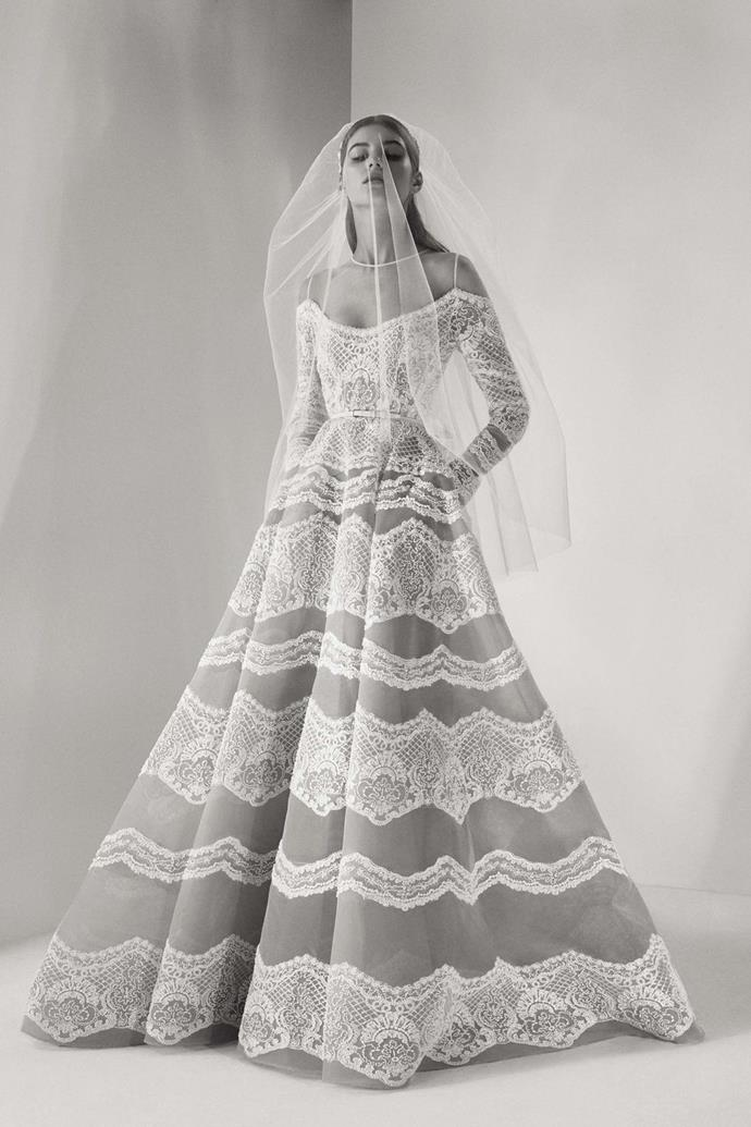 """**ELIE SAAB** <br><br> We're well aware that this isn't necessarily a new name to know  –but their bridal collection is well worth noting. Let's be real, this is one of the labels we've been dying to have made-to-order bridal from for ages.  <br><br> With two seasons of bridal under their belt, [Elie Saab](http://www.eliesaab.com/#/en/bridal/fw-2017/1