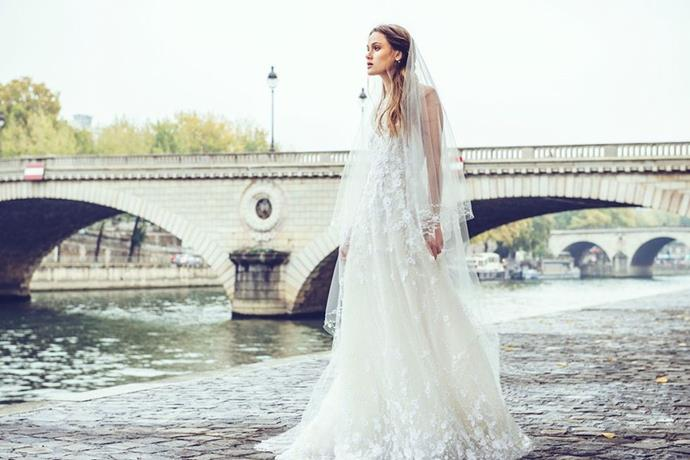 """**SABRINA DAHAN** <br><br> Years working in Monique Lhuillier's bridal atelier gave [Sabrina Dahan](http://www.sabrinadahan.com/