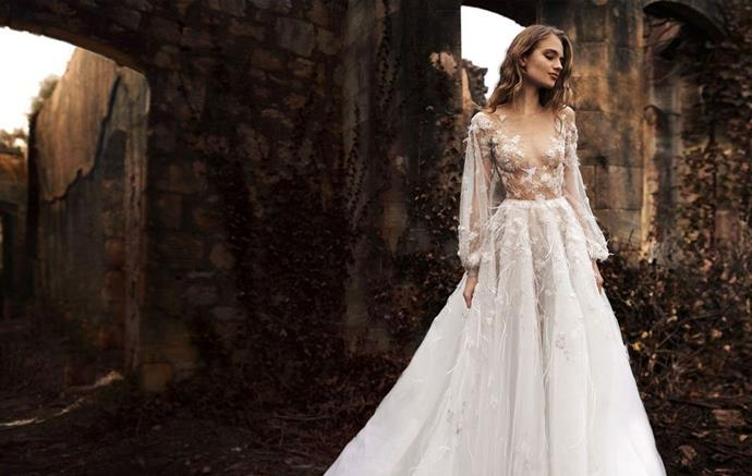 """**PAOLO SEBASTIAN** <br><br> In 2014, when Pinterest took over the wedding-planning industry and gave brides a reason to spend each weekend in bed with a cup of coffee plotting for their dream dress, there was one gown that was pinned to more boards than any other: [Paolo Sebastian](http://paolosebastian.com/