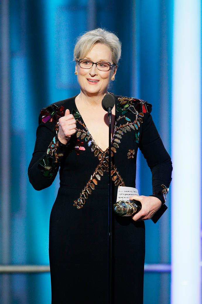 Streep at the 2017 Golden Globes.