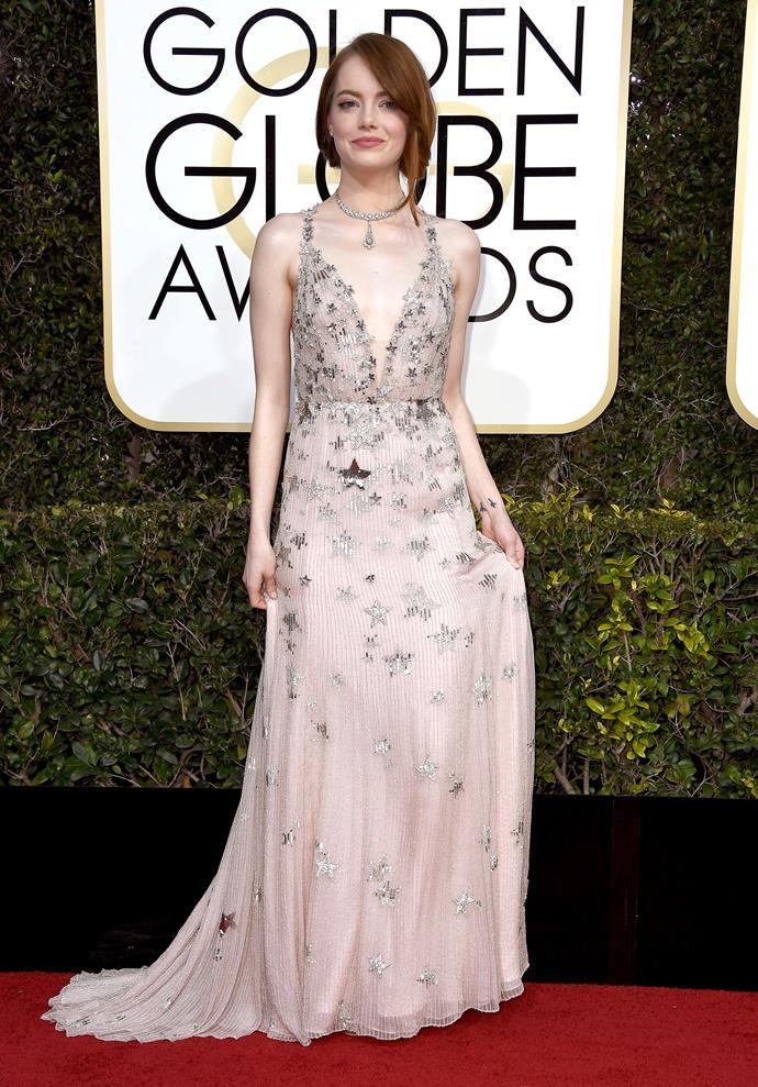 **Emma Stone in 2017**<br><br>  In Valentino.