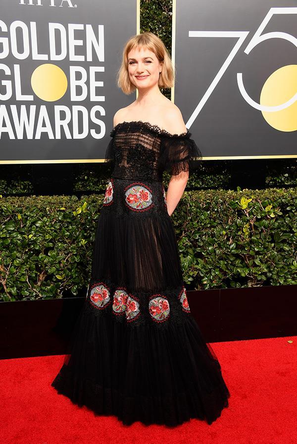 Alison Sudol at the 2018 Golden Globes.