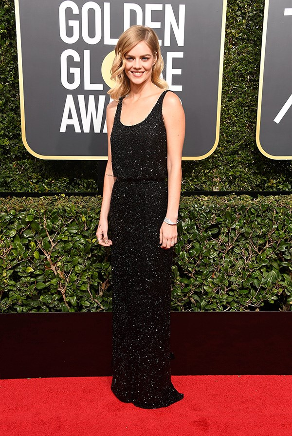 Samara Weaving at the 2018 Golden Globes.