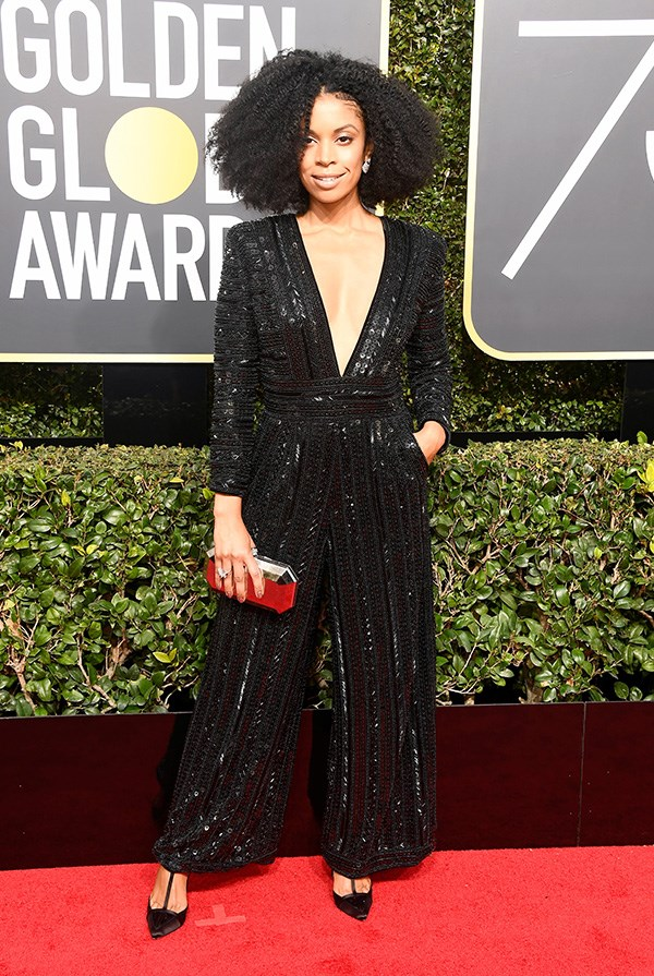 Susan Kelechi Watson at the 2018 Golden Globes.