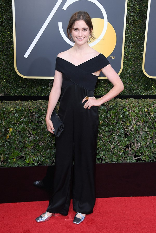 Alice Englert at the 2018 Golden Globes.