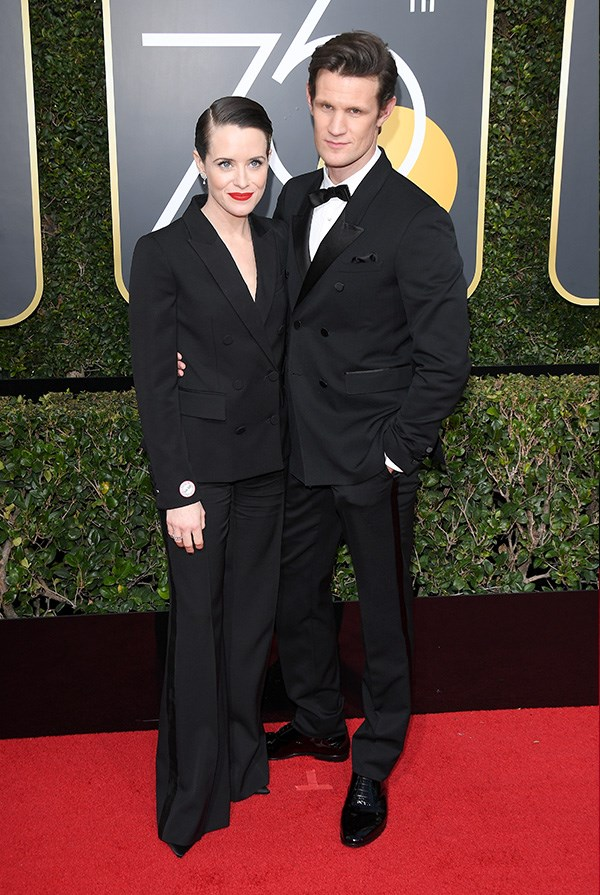 Claire Foy and Matt Smith at the 2018 Golden Globes.