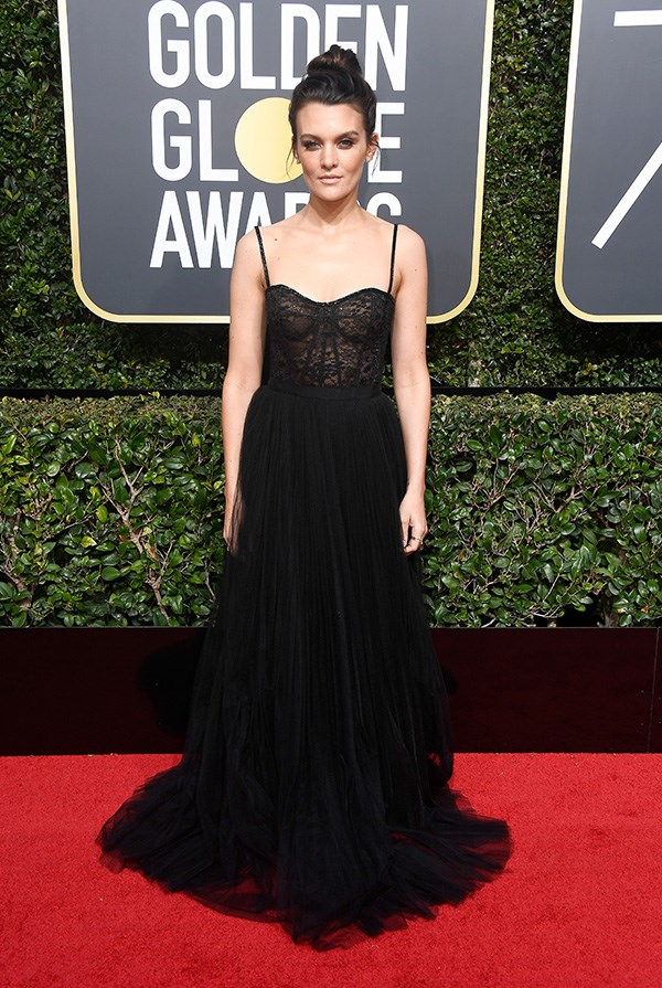 Frankie Shaw at the 2018 Golden Globes.