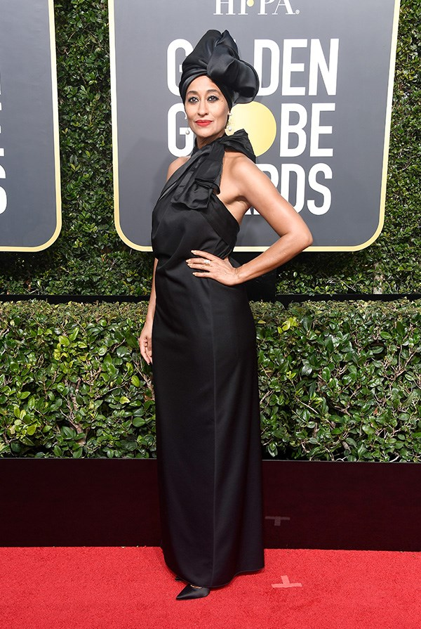 Tracee Ellis Ross in Marc Jacobs at the 2018 Golden Globes.