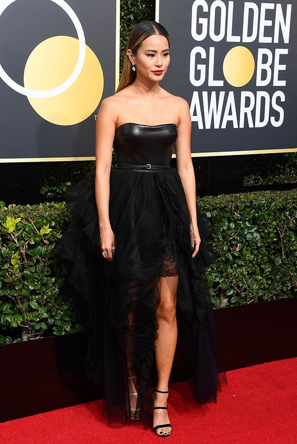 Jamie Chung at the 2018 Golden Globes.