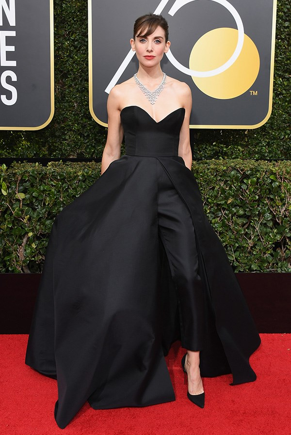 Alison Brie at the 2018 Golden Globes.