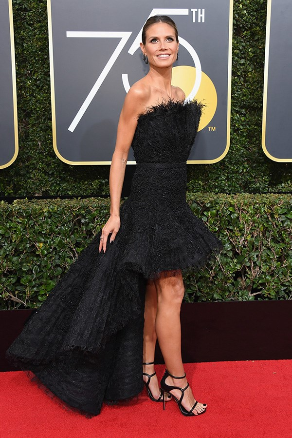 Heidi Klum in Ashi Studio at the 2018 Golden Globes.