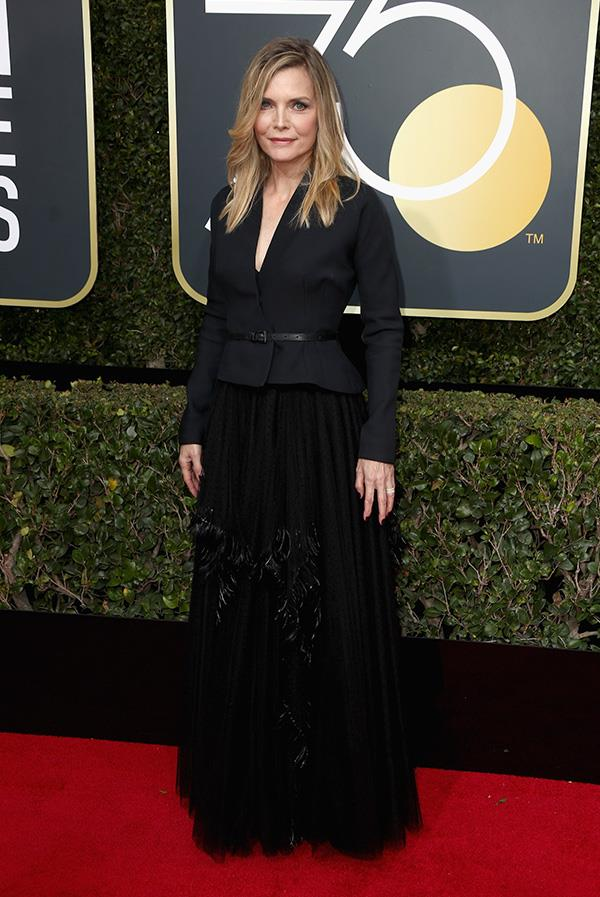 Michelle Pfeiffer at the 2018 Golden Globes.