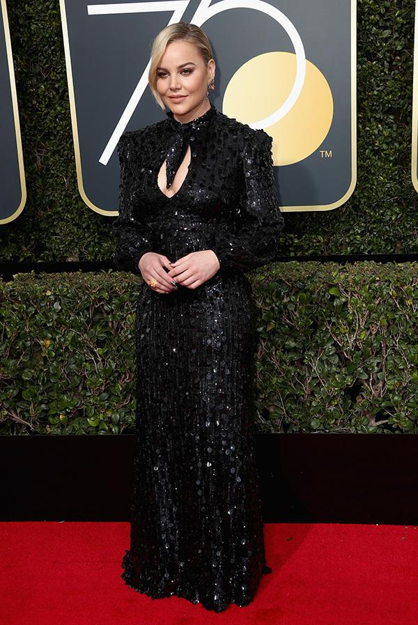 Abbie Cornish at the 2018 Golden Globes.