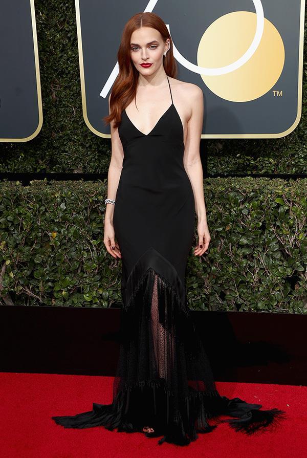Madeline Brewer at the 2018 Golden Globes.