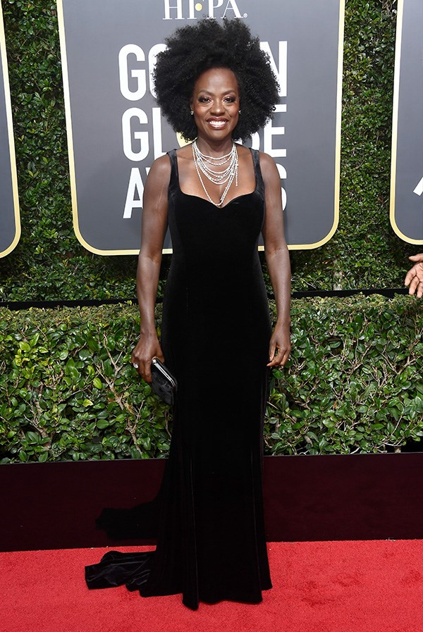 Viola Davis at the 2018 Golden Globes.