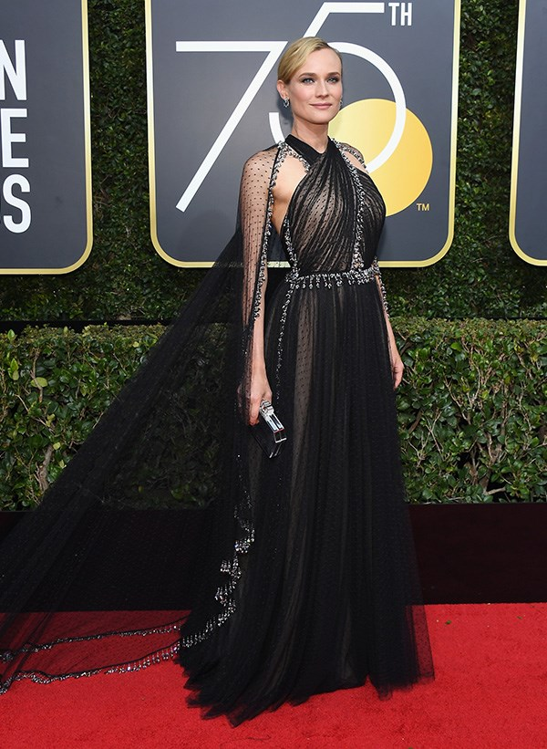 Diane Kruger in Prada at the 2018 Golden Globes/
