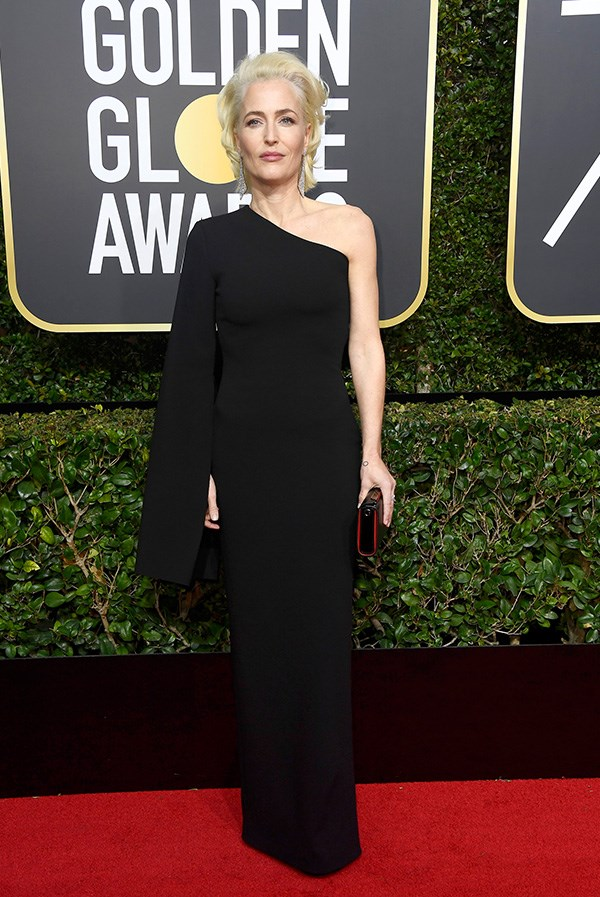Gillian Anderson at the 2018 Golden Globes.