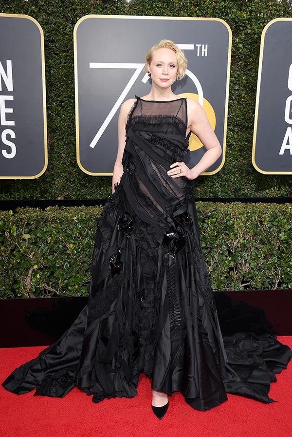 Gwendolyn Christie at the 2018 Golden Globes.