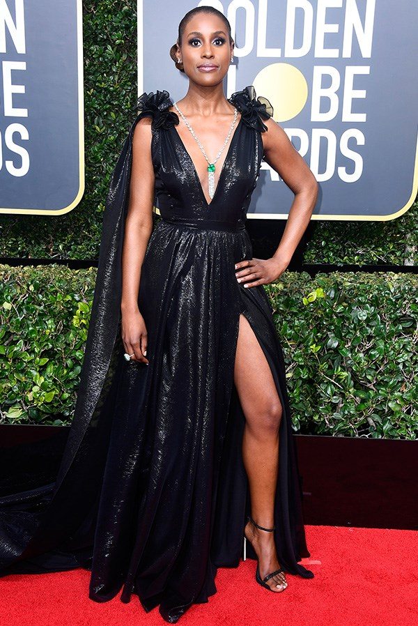 Issa Rae in Prabal Gurung at the 2018 Golden Globes.