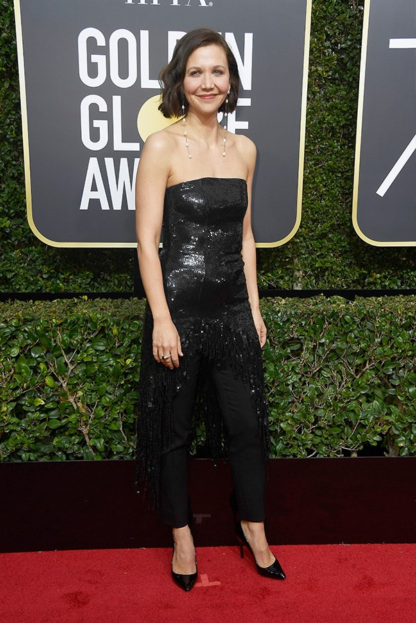 Maggie Gyllenhaal at the 2018 Golden Globes.