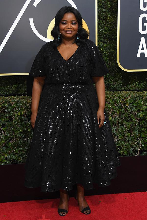 Octavia Spencer at the 2018 Golden Globes.